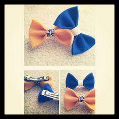 DIY bow hair clips