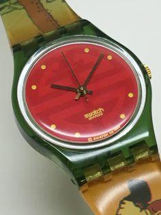 Vintage Ladies Swatch Watch Geisha LG109 1994 by ThatIsSoFunny on Etsy