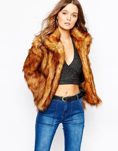 Image 1 of Glamorous - Grizzly - Coat Faux Fur