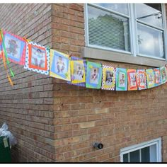 Monthly photo banner for 1st birthday