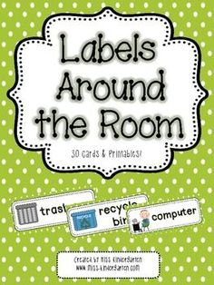 Create a print rich environment in your classroom with this set of 30 student friendly labels! | http://classroomdecorideas.blogspot.com