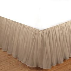 Linen Cotton Voile 15-inch Queen-size Bedskirt | Overstock™ Shopping - Top Rated Bedskirts