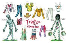 zombie paperdolls by bobdix on Etsy, $13.95