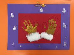 Guantes de navidad, original tapa álbum escolar primer trimestre