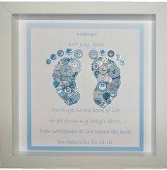 Little Feet Angel Baby Keepsake Button Art by CraftyLittleMonkey14