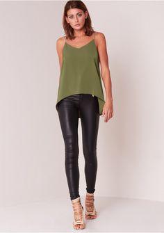 Kendall Khaki Chain Strap Vest Missy Empire