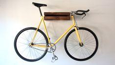 Wooden Bike Shelf