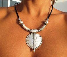 Beaded necklaces beaded jewelry ethnic pendant Pendant by kekugi