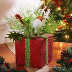 Red Christmas Present Floral Arrangement | Kirkland's