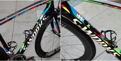 Peter Sagan's World Champion Paint Scheme Stands Out in the Peloton  http://www.bicycling.com/bikes-gear/richmond-2015/peter-sagan-s-world-champion-paint-scheme-stands-out-peloton