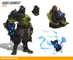 my own fan skin concept for Doomfist from Overwatch Character Model Sheet, Character Creation, Character Concept, Character Art, Concept Art, Character Design, Overwatch Skin Concepts, Overwatch Costume, Overwatch Fan Art