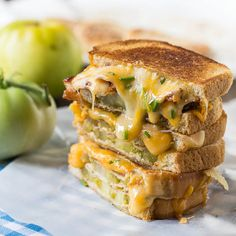 Fried Green Tomato and Bacon Grilled Cheese Recipe - RecipeChart.com