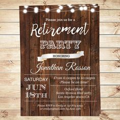 Retirement Party Ideas Invitations Instant By DIYPartyInvitation Retirementpartyideas Diypartyinvitation