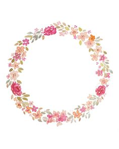 Shared with Dropbox Wreath Watercolor, Watercolor Flowers, Flower Frame, Flower Crown, Molduras Vintage, Corona Floral, Floral Border, Instagram Highlight Icons, Wallpaper Backgrounds