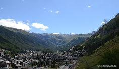 Aussicht auf Zermatt und Matterhorn