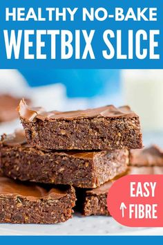 Recipes Snacks Baking No-bake chocolate Weetbix slice, easy kid-friendly recipe made with Weetabix, or wheat biscuit breakfast cereal Chocolate Weetbix Slice, Healthy Chocolate, Chocolate Recipes, Baking Recipes, Snack Recipes, Dessert Recipes, Baking Ideas, Easy Baking For Kids, Healthy Recipes