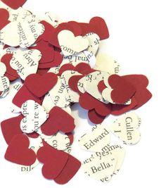 Twilight Confetti - Wedding Decor -Valentines Day Decor - Heart Confetti - 100 Pieces on Etsy, $3.00 confettis coeurs