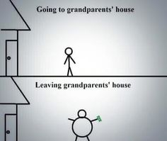 Going to grandparent's house