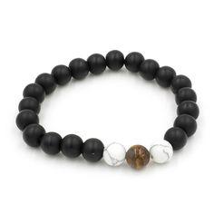 Bracelet Perles Noires Mates Sport Chic, Beaded Bracelets, Jewelry, Black Pearls, Black Bracelets, Matte Black, Accessories, Jewlery, Jewerly