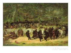 The Bear Dance Giclee Print by William Holbrook Beard at AllPosters.com My favorite print.