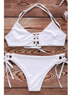 SHARE & Get it FREE | Lace-Up Solid Color   Bikini SetFor Fashion Lovers only:80,000+ Items • New Arrivals Daily Join Zaful: Get YOUR $50 NOW!