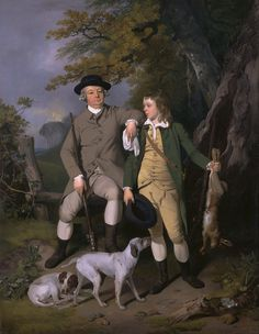 1779  Portrait of a Sportsman with His Son  by Francis Wheatley (1747 - 1801)  wikipedia.org