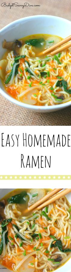 Must MAKE Recipe - so simple anyone can make it! Easy Homemade Ramen Recipe