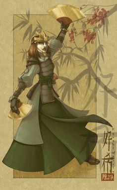Kyoshi Warrior by AlisaChristopher.deviantart.com