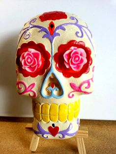 Mexican Sugar Skull = Made from Plaster by Sweet Calavera