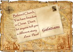 Slides, pics, bible studies, sermon illustrations, etc. for Gal. 5 and Galatians showing us the freedom we have in Christ and the joyful walk we have in the Spirit