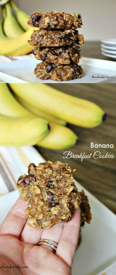 These Banana Breakfast Cookies are the perfect healthy breakfast to start the day with peanut butter, chia seeds and chocolate chips you can't go wrong.