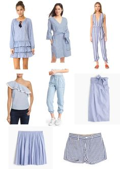 Popular trends this Spring - Blue and white Stripes