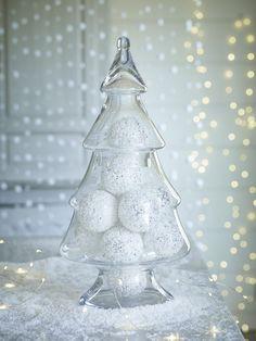 christmas tree shaped display jar made of glass - Glass Christmas Tree