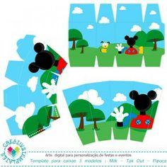 Caixa para lembrancinha Casa do Mickey mod:07 Printable Gift box Funny House