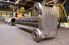 To avoid extreme heavy channels on high pressure heat exchangers Bronswerk has developed this Compact Header.