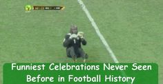 Football is one sport where the players shows great passion and once they score , the celebrations of a goal are a must to watch.
