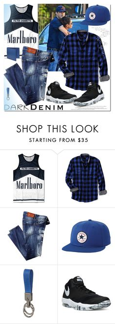 """""""Dark Denim"""" by ilona-828 ❤ liked on Polyvore featuring Lands' End, Converse, Tod's, NIKE, Paul Smith, men's fashion, menswear, darkdenim and menswearessential"""