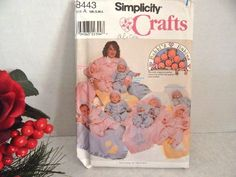Baby Clothes Sewing Pattern Simplicity 8443 Uncut  DIY Bobbi's Babies Newborn S M L  Coat Pants Hat Diaper Bag and Blanket Sewing Pattern