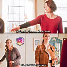 Supergirl Alex, Kara Danvers Supergirl, Supergirl And Flash, Alex Danvers, Lena Luthor, Cute Lesbian Couples, Girl Memes, Katie Mcgrath, Dc Memes