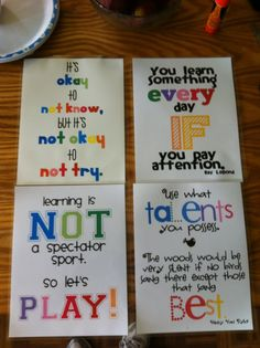 Motivational Posters good to decorate and inspire students.