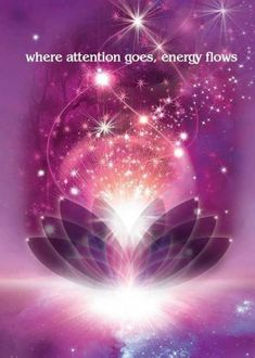 where attention goes energy flows