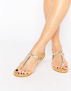 Image 1 of Miss KG Riva Gold Flat Sandal