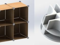 Modular shelving system by spacejunkie9 - Thingiverse
