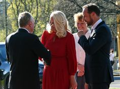 Royals & Fashion - Prince Haakon and Princess Mette Marit attended the inauguration of an exhibition at the Munch Museum in Oslo.