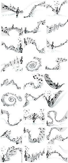 Musical_Note_Set Musicals, Arabic Calligraphy, Notes, Report Cards, Notebook, Arabic Calligraphy Art, Musical Theatre