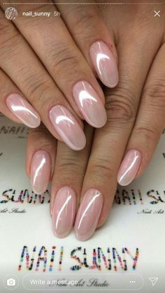 Bries Hochzeit - Rezepte - french tip nails Gradiant Nails, Pink Nails, My Nails, Fingernails Painted, Crome Nails, Pearl Nails, Wedding Nails Design, Wedding Manicure, French Tip Nails