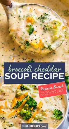This copycat Broccoli Cheddar Soup is SO hearty and rich, and made in just one pot on your stovetop!  Crockpot and Instant Pot directions too! #soup #copycatrecipe #broccolicheddar #broccolicheese #creamy #panera #souprecipe #comfortfood Crockpot Dishes, Crockpot Broccoli Cheese Soup, Healthy Crockpot Soup Recipes, Crock Pot Soup Recipes, Instapot Soup Recipes, Easy Crockpot Soup, Creamy Soup Recipes, Cheddar Broccoli Soup Panera, Broccoli Cheddar Casserole