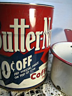 Old coffee can
