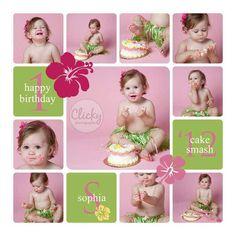 Lili's first birthday poses