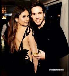 The Vampire Diaries ... Nina Dobrev and Chris Wood as Elena and Kai